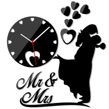 Mr And Mrs DIY Wall Clock mx086