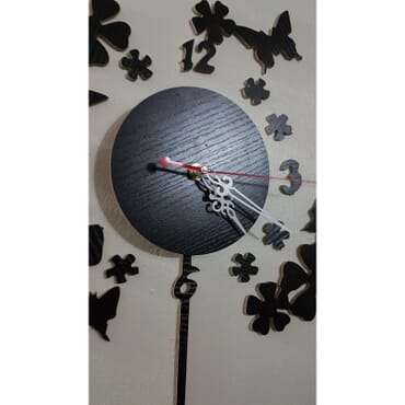 Beautiful butterfly flowers DIY wall clock mx015