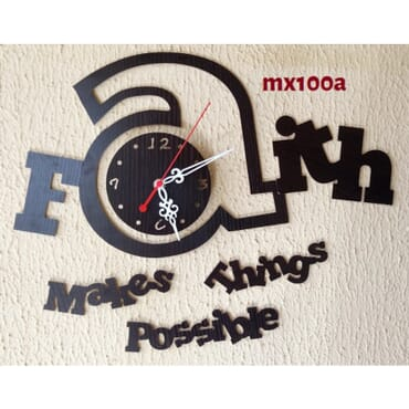 Faith Makes ThIngs Possible DIY Wall Clock mx100