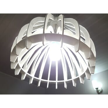 Decorative white pendant light hs001