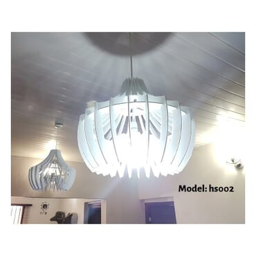 Decorative white pendant light hs002