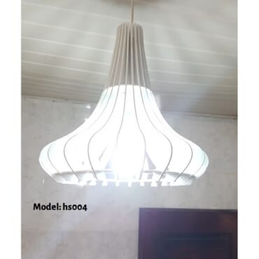 Decorative white pendant light hs004