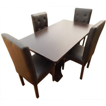 Excel Dining Table + 4 Chairs fx064bb