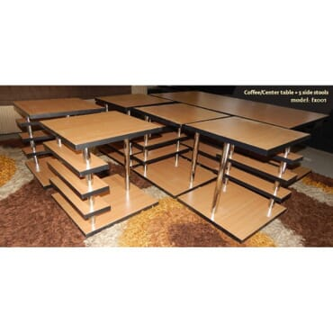 Accord center table with 5 side stools fx001cb