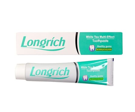 Longrich White Tea Multi- Effect Toothpaste - White/Green(Small)