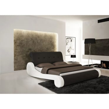 Elegant Faux Leather Bed 6 X 6ft fx116wb