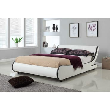 Italian Style Modern Tufted Leather Bed 6ft X 6ft fx081wb