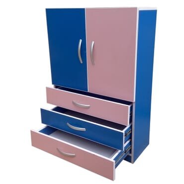 Baby Wardrobe with adjustable interior shelves. fx027
