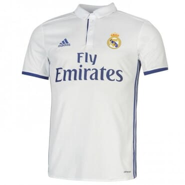 REAL MADRID, HOME ,JERSEY, 2016 2017