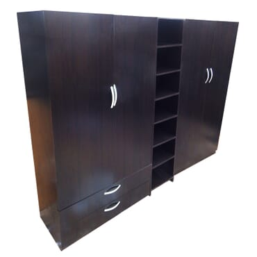 4 door wardrobe with shoe rack and drawers fx033bb