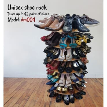 Light Brown Unisex shoe rack for 42 pairs of shoes dm004cx