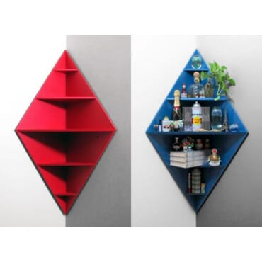 Diamond shaped large corner shelf dm007