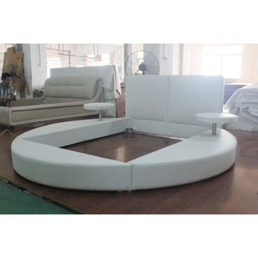 Round Full leather Bed 6ft X 6ft fx085ww