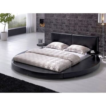 Round Full leather Bed 4.5ft X 6ft fx084kk