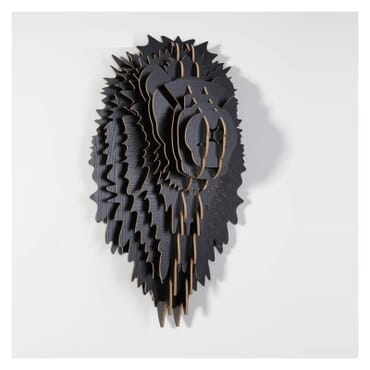 African Lion Head Wall Art th035b