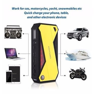 Portable Car Jump Starter 600A Peak 18000mAh -Yellow