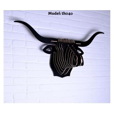 Buffalo Head MDF Wall Art th040b