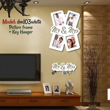 Couple picture frame + key hanger dm103wx
