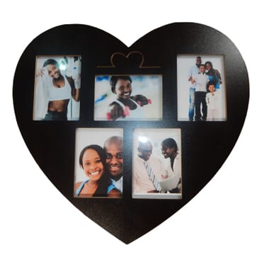Heart shaped photo Frame + key Hanger dm106bx