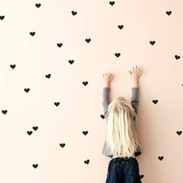 100pcs Of Cute love hearts DN132