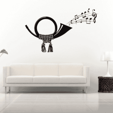 Musical Thrumpet wall sticker DN039