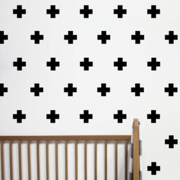100pcs Cute decorative cross wall decal DN133