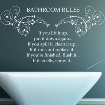 Bathroom Rules wall sticker DN057