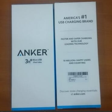 Anker 3 Premium 3ft Micro USB High Speed USB 2.0 A Male to Micro B Sync & Charge Cables