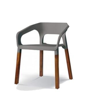Grey Woody Arm Chair