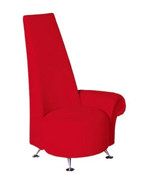 Red Velvet Decorative Chair