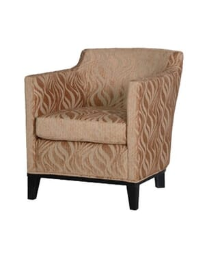 Tub Chair Gold Patt Fabric