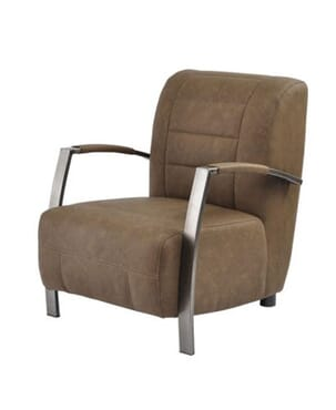 LIGHT BROWN OCCASIONAL CHAIR