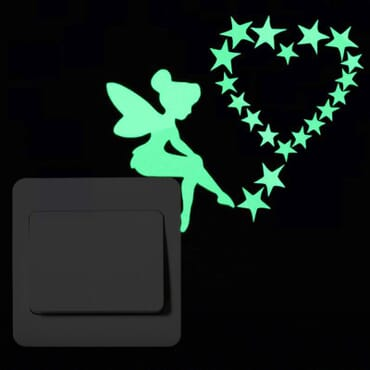 Tinkerbell Love - Luminous Glow in the dark - Wall decal SC07