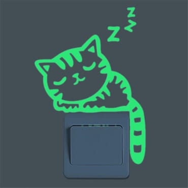 Sleeping Cat - Luminous - Glow in the dark - wall sticker SC12