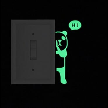 Peeping Panda - Luminous - Glow in the dark wall decal SC09