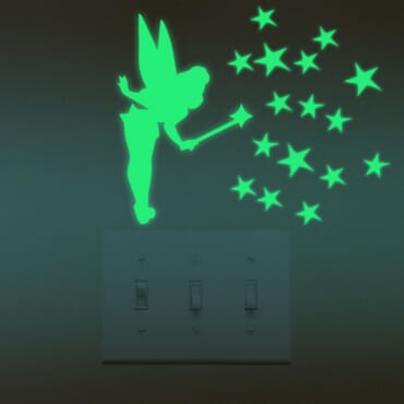 Little fairy Pixy Dust - Luminous - Glow in the dark wall decal  SC02