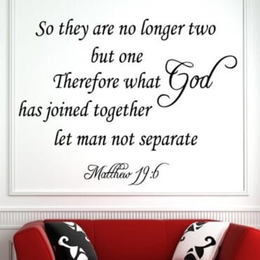 Mathew 19:6 - So They Are No Longer Two But One DN099