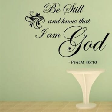 Be Still And Know That I Am God - DN088 DN088