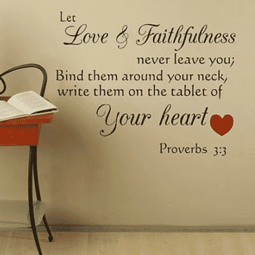 Proverbs 3:3 Let Love and Faithfulness Never Leave You DN045