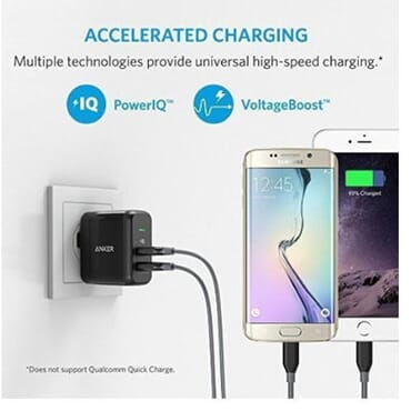 Anker 2-Port 24W USB Wall Charger + [3ft x 3 in a Pack] PowerLine Micro USB