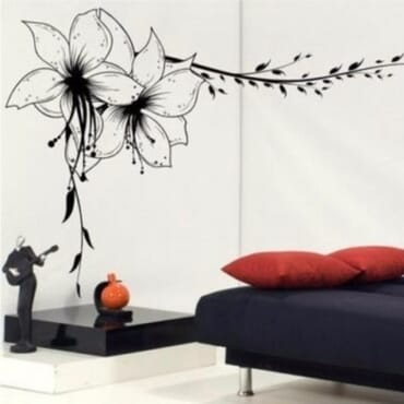 Leaf Floral Wall Edge Design DN049