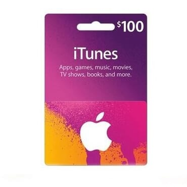 Apple iTunes $100 Gift Cards