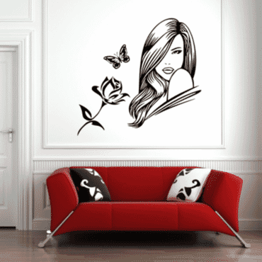 Beautiful lady With Roses DN044