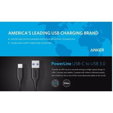 Anker PowerLine USB-C to USB 3.0 Cable - 3 in 1 Pack-3ft