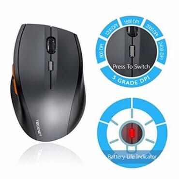 TeckNet Optical Wireless Mouse 2.4G Portable