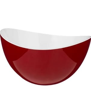 Large Bowl Red White plastic