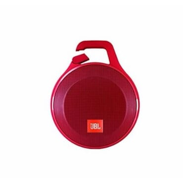 JBL Clip+ Splash Proof Portable Bluetooth Speaker - Red