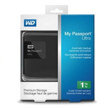Western Digital My Passport Ultra Portable External Hard Drive - 1TB