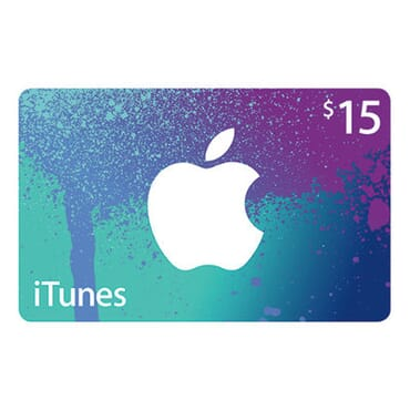 Apple iTunes $15 Gift Cards
