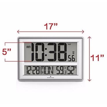 Jumbo Atomic Digital Wall Clock with Temperature and Humidity